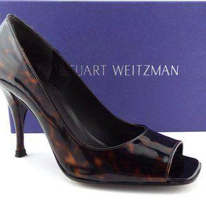Stuart Weitzman Linda Tortuga Open Toe Heels